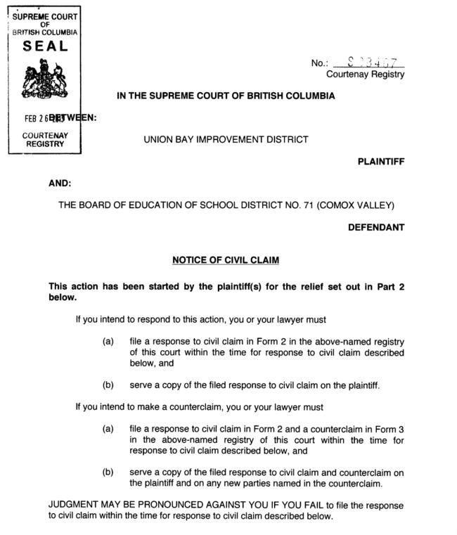 UBID vs School District No 71