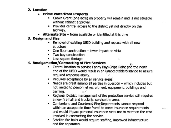 staff report fire hall contstuction review page 2