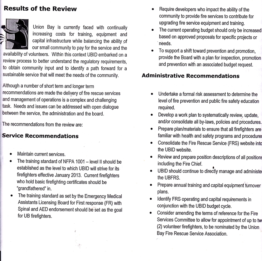 results of review