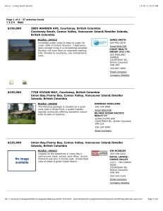 mls.ca - Listing Search Results