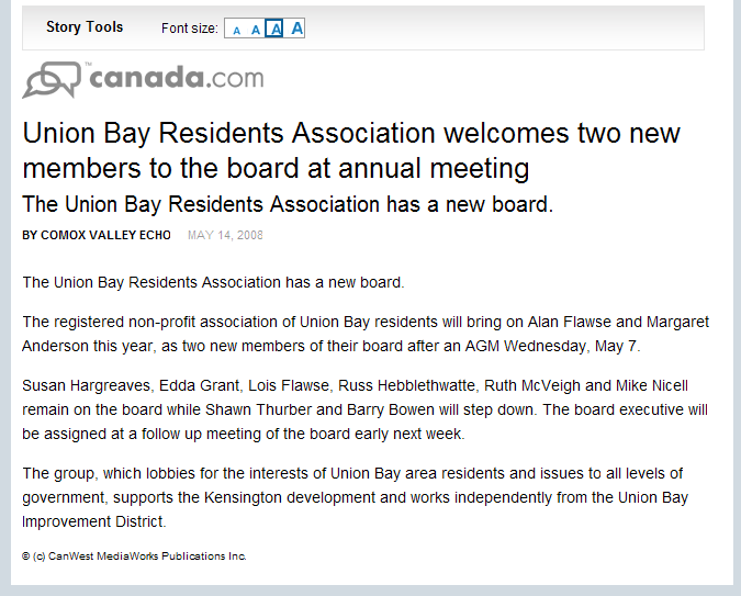 Union Bay Residents Association welcomes two new members to the board at annual meeting