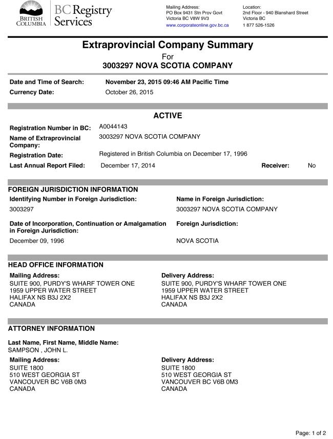 3003297 Nova Scotia Company-1
