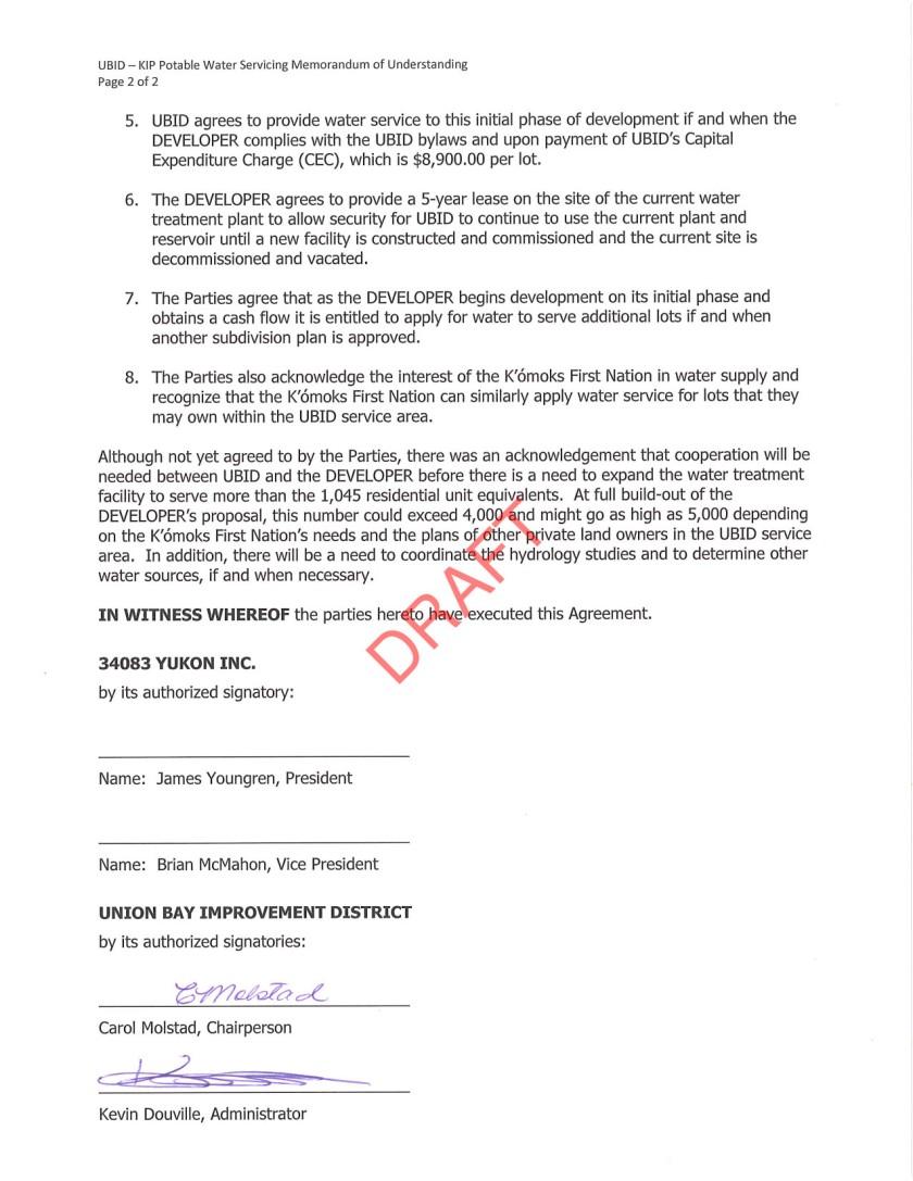 16June06 Draft UBID - KIP MOU Agreement - signed by UBID-2