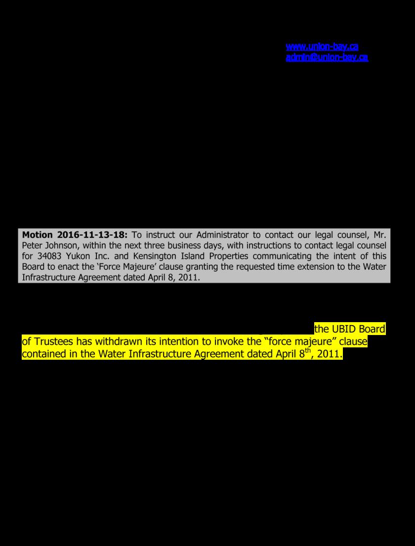 16dec08-ubid-immediate-public-notice-2011-water-infrastructure-agreement